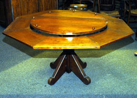 EARLY CHERRY LAZY SUSAN TABLE