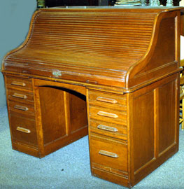 CHERRY ROLL TOP DESK