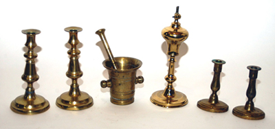 Brass Candlesticks & Miscellaneous