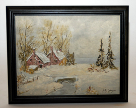 Winter Scene Oil Painting