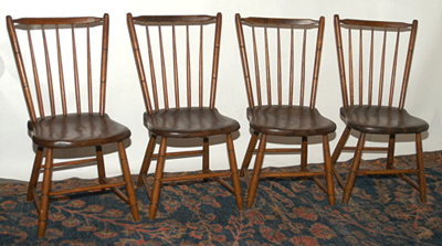 Set of 4 Early Chairs