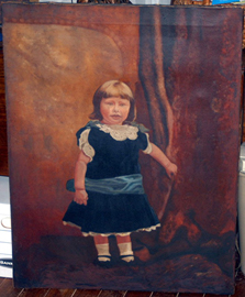 Early Folk Art Painting of Child