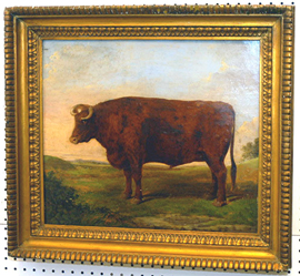 Early Folk Art Cow Painting