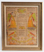 1830 ADAMS COUNTY, PA. PRINTED FRAKTUR