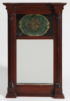 PERIOD FEDERAL MIRROR W/REVERSE PAINTED TABLET