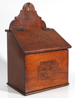 EARLY 19TH CENTURY INLAID WALL BOX