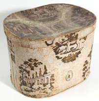 LARGE 19TH CENTURY WALLPAPER BOX