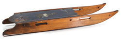 EARLY CHILD'S DECORATED WOODEN SLED