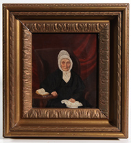SIGNED 1851 OIL PAINTING OF ELDERLY LADY