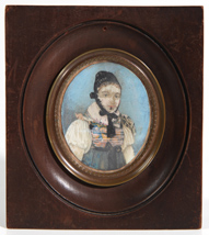 EARLY 19TH CENTURY MINIATURE PAINTING OF LADY