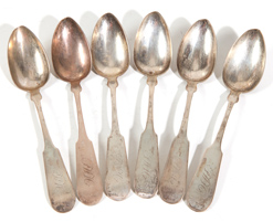 COIN SILVER TABLE SPOONS