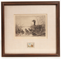 EDWARD A. MORRIS (MN) DUCK STAMP ETCHING