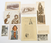 GROUP OF AMERICAN INDIAN PHOTOS