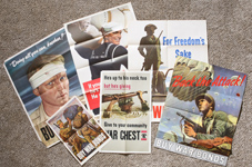 SIX WWII POSTERS