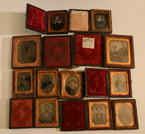 LARGE GROUP OF CASED PHOTOS