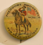 1904 TEDDY ROOSEVELT CAMPAIGN PINBACK