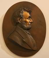IMPERIAL BRASS PLAQUE OF LINCOLN