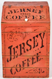 Paint Decorated Wooden Jersey Coffee Bin