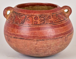 Pre Columbian Classic Mayan Pottery Bowl