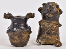 Two Pre Columbian Chimu Pottery Pieces
