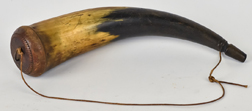 Fine Early Carved Powder Horn
