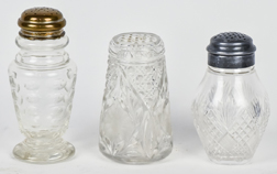Three Victorian Cut Glass Sugar Shakers