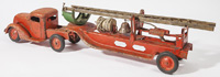 TURNER TOY SHEET STEEL LADDER FIRE TRUCK