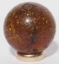 LARGE AMBER MICA MARBLE