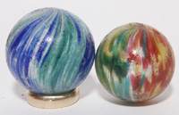 TWO ONIONSKIN MARBLES