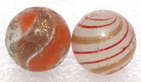 TWO LUTZ MARBLES