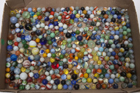 LARGE LOT OF UNSEARCHED MACHINE MADE MARBLES