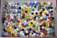 LOT OF MACHINE & HANDMADE MARBLES