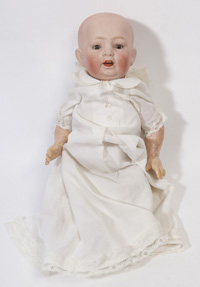 GERMAN BISQUE HEAD BABY DOLL