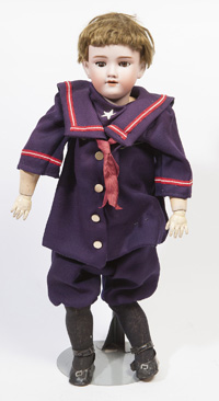 HANDWERCK HALBIG BISQUE SOCKET HEAD DOLL