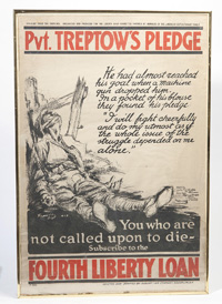 WWI POSTER PVT. TREPTOW'S PLEDGE
