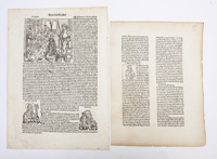 TWO EARLY PRINTED PAGES