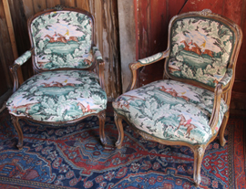HORSE THEME FRENCH CHAIRS