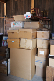 100'S OF BOXES STILL TO SORT