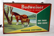 Budweiser Light Up Sign