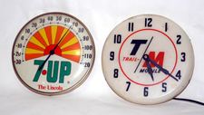 Advertising Thermometer & Clock