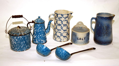 Blue Granite & Stoneware
