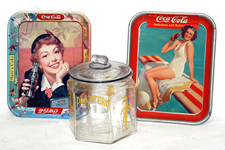 Coca-Cola Trays & Planters Jar