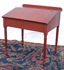 Early Lift Top Desk w/Old Red Paint