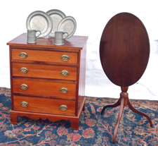 Miniature Chest & Tilt Top Stand
