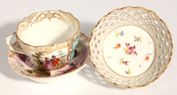 Two Pieces Meissen Porcelain