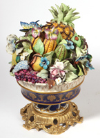 Late Serves Porcelain Fruit Basket
