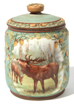 Hand Painted Nippon Tobacco Jar