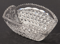 Cut Glass Retangular Bowl