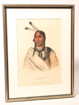 "E. C. Biddle ""Esh-Ta-Hum-Leah  -Sioux Chief ""Lithograph"