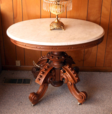 Large Walnut Victorian Thomas Brooks MT Table